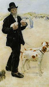 Man Walking Dogs By Jean Francois Rafaelli