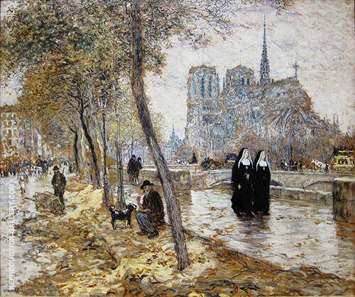 Notre Dame de Paris Painting By Jean Francois Rafaelli