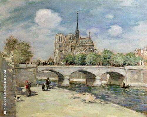 Notre Dame de Paris 1900 Painting By Jean Francois Rafaelli