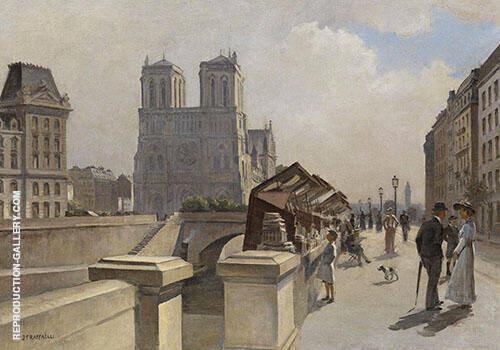 Notre Dame du Boulevard Quai des Grand Augustins Painting By ...