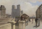 Notre Dame du Boulevard Quai des Grand Augustins By Jean Francois Rafaelli