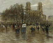 St Sulpice Square Paris By Jean Francois Rafaelli