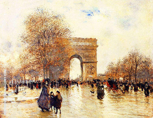 The Arc de Triomphe Autumn Effect By Jean Francois Rafaelli