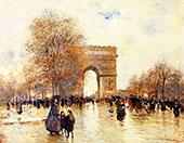 The Arc de Triomphe Autumn Effect By Jean Francois Rafaelli
