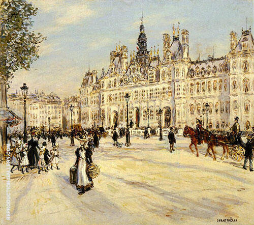 The Hotel de Ville de Paris By Jean Francois Rafaelli