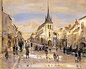The Place of Saint Jean in Nemours By Jean Francois Rafaelli