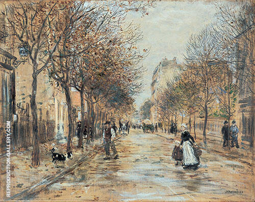Une Rue a Asnieres Painting By Jean Francois Rafaelli