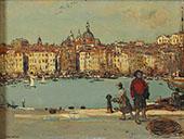 View of an Italian Port By Jean Francois Rafaelli
