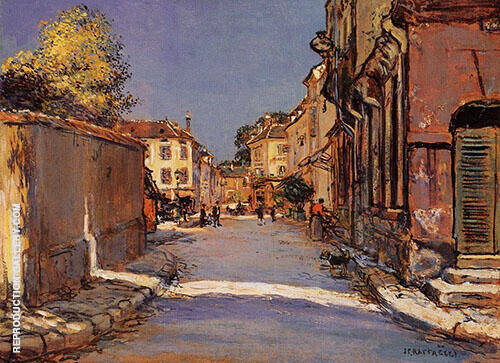 Village Street Painting By Jean Francois Rafaelli - Reproduction Gallery