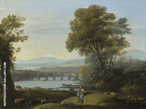 Landscape with Apollo Guarding The Herds of Admetus and Mercury Stealing Them By Claude Lorrain