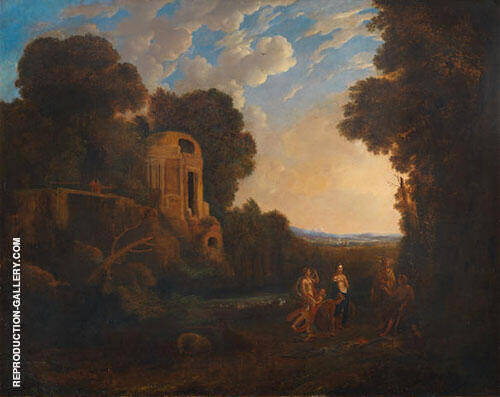 An Italianate Landscape with The Judgment of Paris Painting By ...
