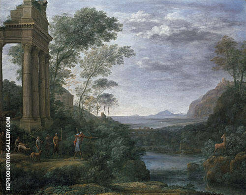 Ascanius Shooting The Stag of Sylvia 1682 Painting By Claude Lorrain