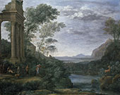Ascanius Shooting The Stag of Sylvia 1682 By Claude Lorrain