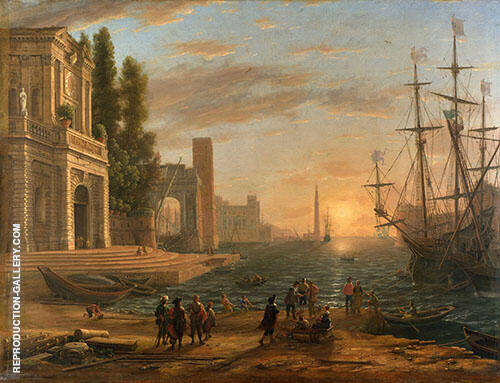 A Seaport By Claude Lorrain