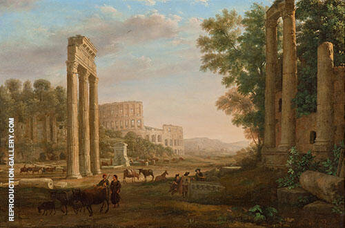 Capriccio with Ruins of The Roman Forum 1643 By Claude Lorrain