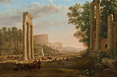 Capriccio with Ruins of The Roman Forum 1643 By Claude Lorrain