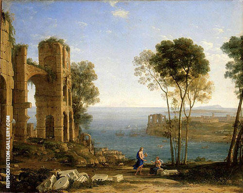 Coast Seen with Apollo and The Cumaean Sibyl 1604 By Claude Lorrain
