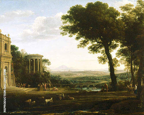 Landscape with a Sacrifice to Apollo By Claude Lorrain