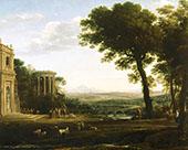 Landscape with a Sacrifice to Apollo By Claude Lorrain