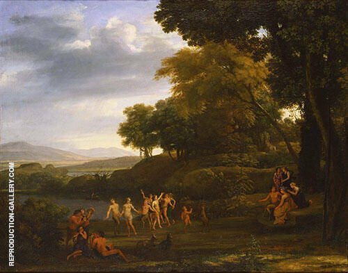 Landscape with Dancing Satyrs and Nymphs 1646 Painting By Claude Lorrain