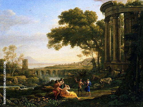 Landscape with Nymph and Satyr Dancing 1648 By Claude Lorrain