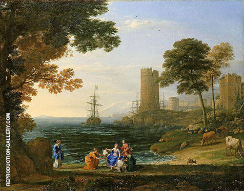 Landscape with The Robbery of Europe by Jupiter 1615 By Claude Lorrain