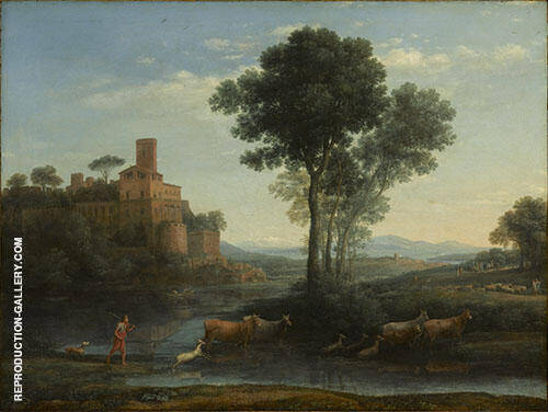 Landscape with The Voyage of Jacob 1677 By Claude Lorrain