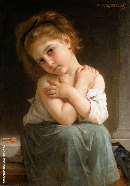 The Chilly Girl, La Frileuse, 1879 By William-Adolphe Bouguereau Replica Paintings on Canvas - Reproduction Gallery