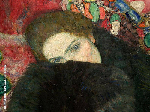Lady with Muff aka Dame mit Muff 1916 By Gustav Klimt Replica Paintings on Canvas - Reproduction Gallery