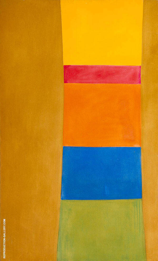 Colour Column on Suede By Jack Bush