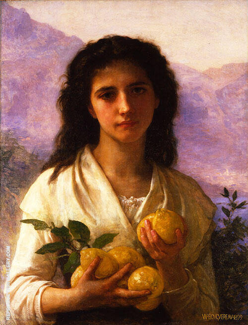 Girl Holding Lemons By William-Adolphe Bouguereau