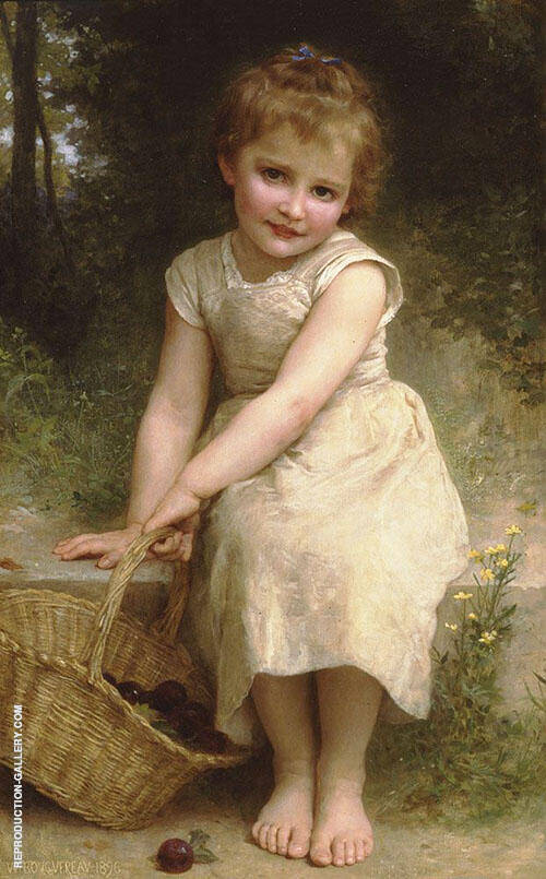 Plums By William-Adolphe Bouguereau