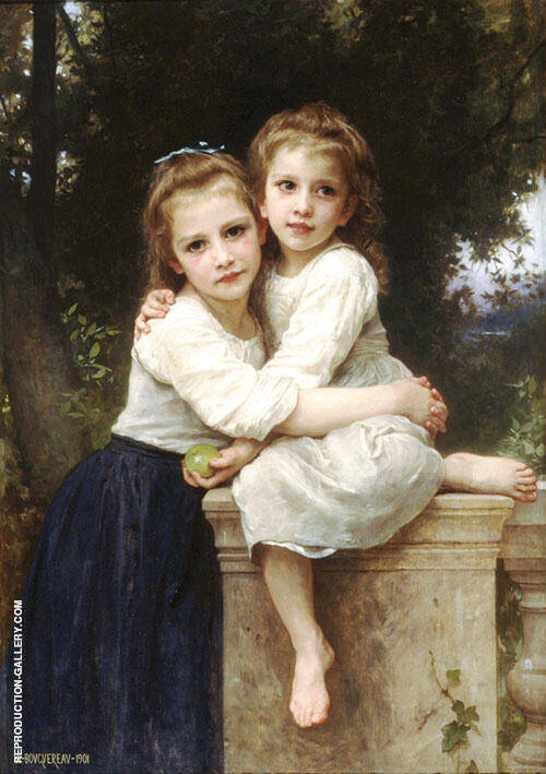 Two Sisters 1901 By William-Adolphe Bouguereau