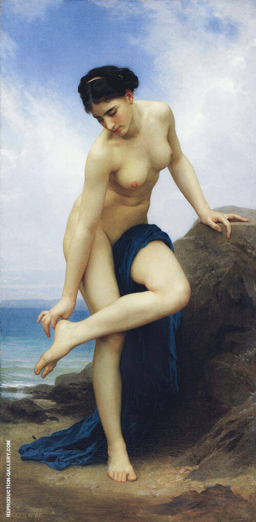After The Bath 1875 By William-Adolphe Bouguereau
