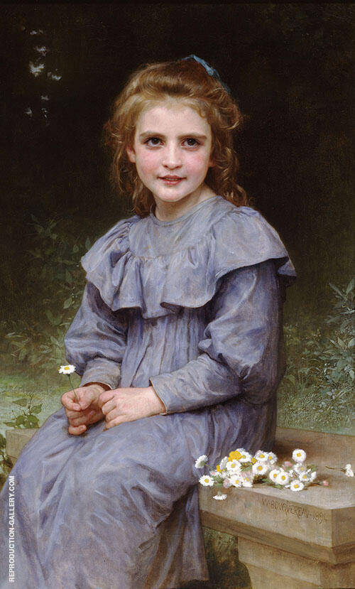 Daisies 1894 By William-Adolphe Bouguereau