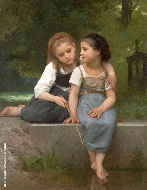 Fishing For Frogs 1882 By William-Adolphe Bouguereau