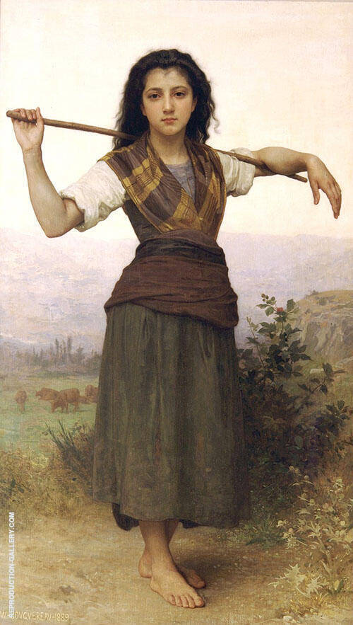 The Shepherdess 1889 By William-Adolphe Bouguereau