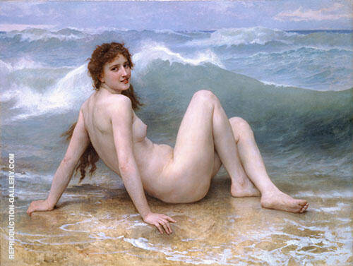 The Wave 1896 Painting By William-Adolphe Bouguereau