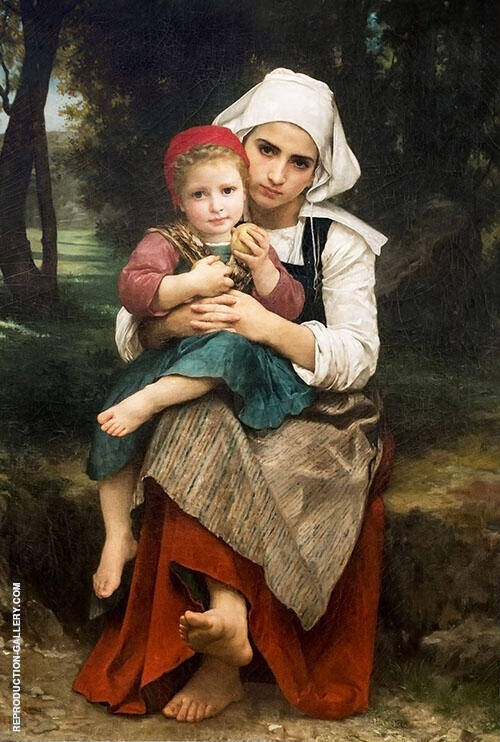 Breton Brother and Sister 1871 By William-Adolphe Bouguereau