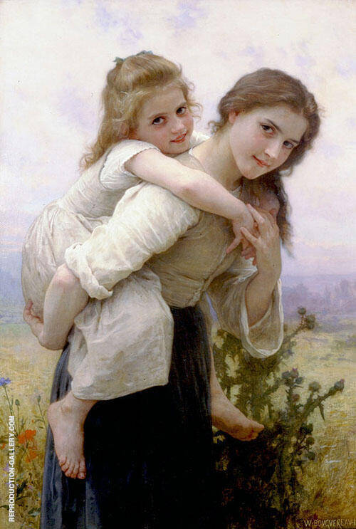 Not Too Much To Carry 1895 By William-Adolphe Bouguereau