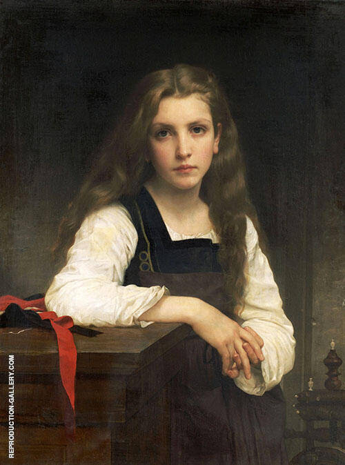 The Fair Spinner By William-Adolphe Bouguereau