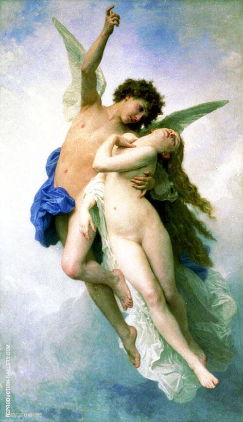 Psyche et L'Amour By William-Adolphe Bouguereau