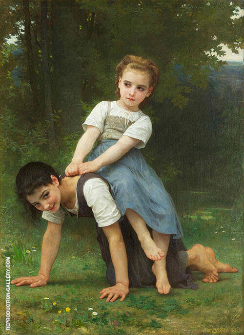 The Horseback Ride 1884 By William-Adolphe Bouguereau