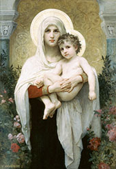 The Madonna of The Roses 1903 By William-Adolphe Bouguereau