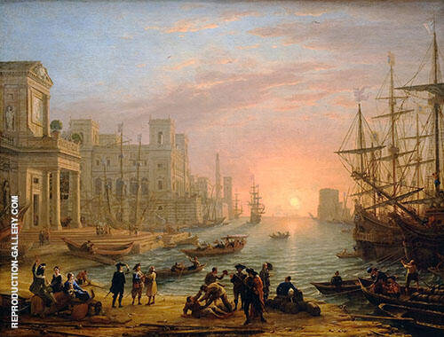 Sea Port at Sunset 1639 Painting By Claude Lorrain - Reproduction Gallery