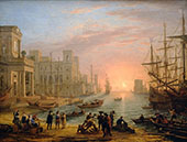 Sea Port at Sunset 1639 By Claude Lorrain
