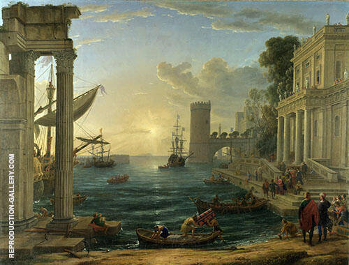 The Embarkation of The Queen of Sheba 1648 Painting By Claude Lorrain
