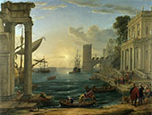 The Embarkation of The Queen of Sheba 1648 By Claude Lorrain