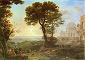 Vedute von Delphi mit Einer Opferprozession By Claude Lorrain