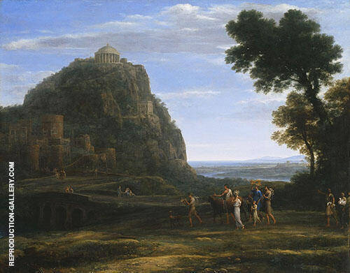 View of Delphi with a Procession 1941 By Claude Lorrain